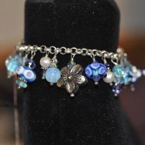 Jewelry - Lampwork Dangle Bracelet Tons of Charms